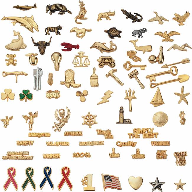 stock lapel pins - ready to ship